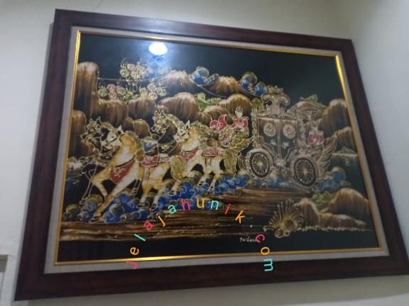 Lukisan Kereta Kencana Karya Abdi Dalem Kraton Yogyakarta Mbah Suhardi