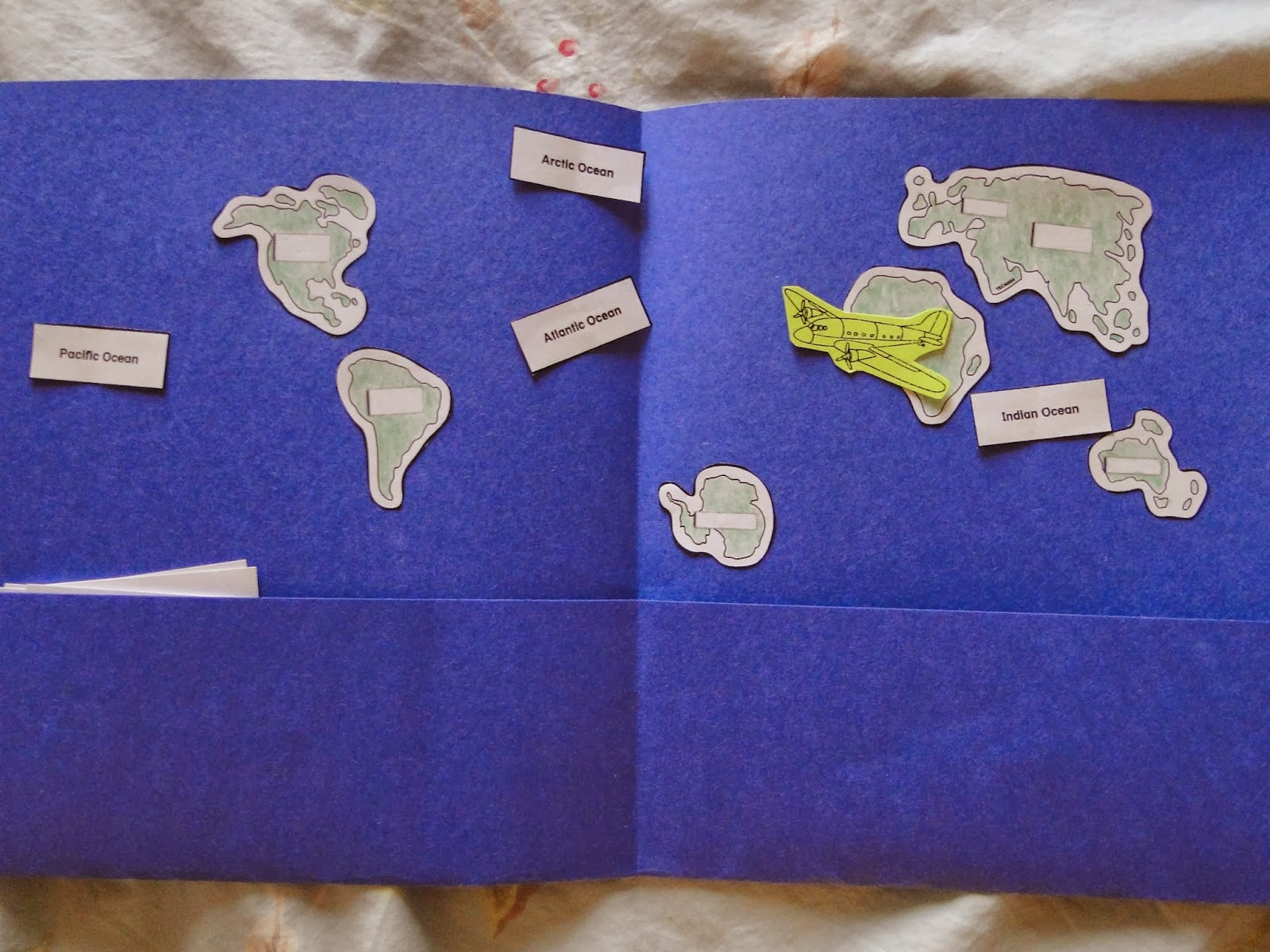 The Typewriter Girl Continents And Oceans Review Foldable