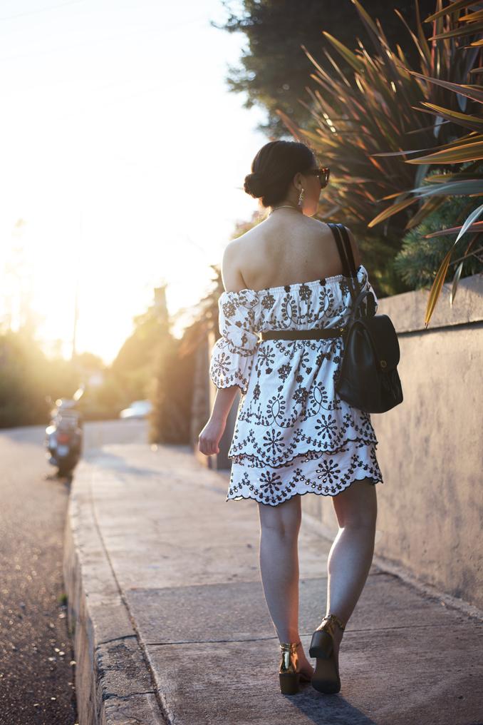 ReadyTwoWear: Zara embroidered off-the-shoulder dress