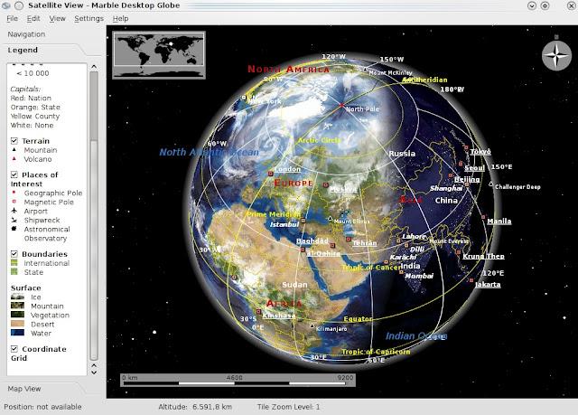 Descarca Marble si vei avea un Atlas al Pamantului Virtual de mare calitate