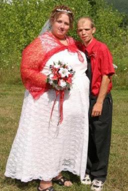 hässliche Menschen Ehepaar lustig
