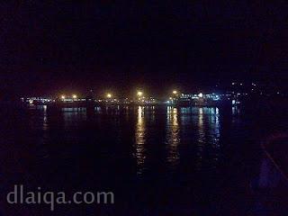 pelabuhan Bakauheni di malam hari