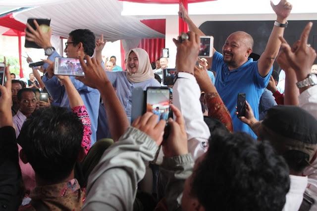 Sandiaga: Nama Presiden dan Wapres Sudah Tercatat di Lauhul Mahfudz