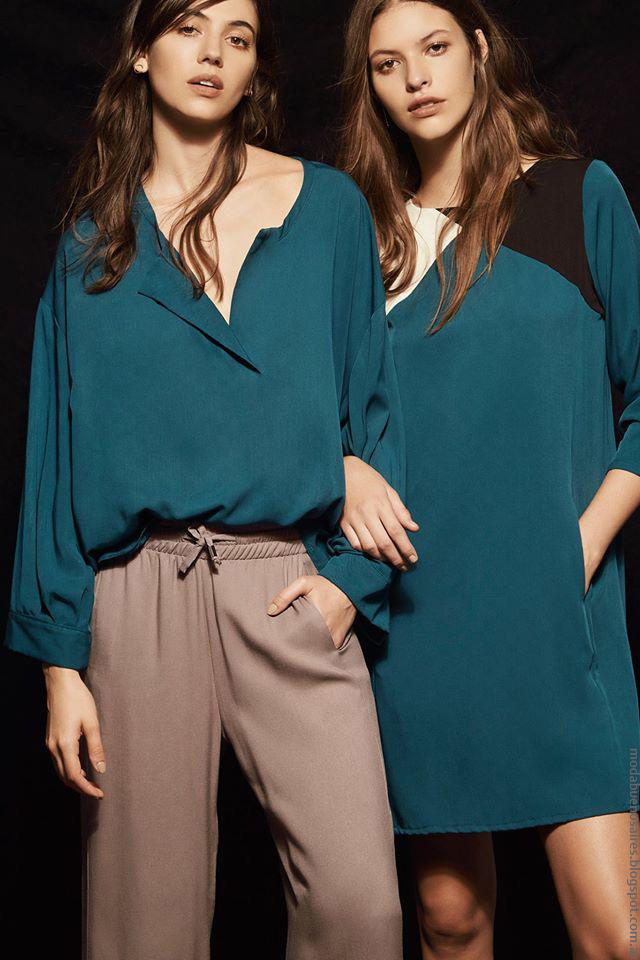 Siluetas oversize en el invierno 2016 de Justa Petra. Blusas, vestidos geométricos, pantalones palazzo. Moda 2016 by Justa Petra.
