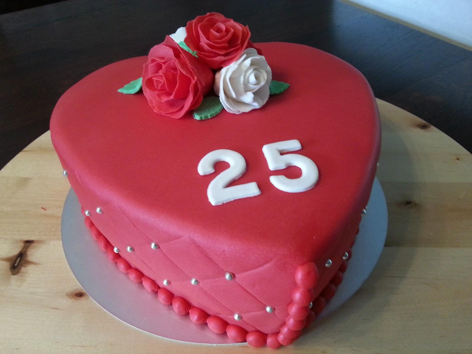 Verbazingwekkend Liza's Taarten & Cupcakes: 25 jaar getrouwd YF-07