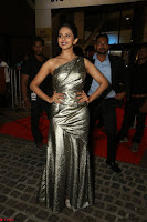 Rakul Preet Singh in Shining Glittering Golden Half Shoulder Gown at 64th Jio Filmfare Awards South ~  Exclusive 039.JPG