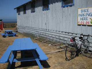 Bike parking at Swanton Berry Farm, Swanton, California