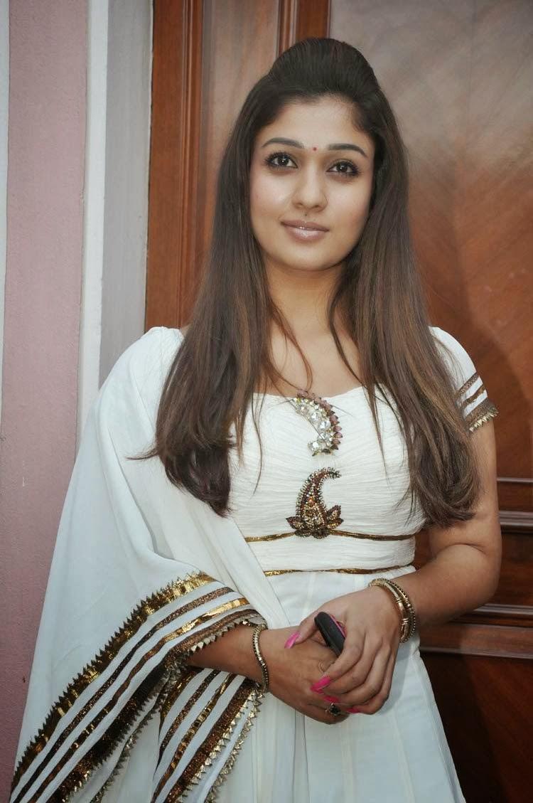 Nayanthara In White Churidar Photos South Actress - Panel ...