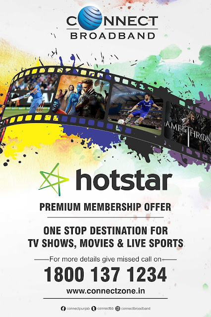 "Connect Broadband collaborates with –""Hotstar""- to provide Hotstar Premium access to customers"