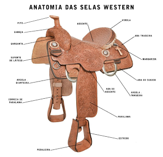 sela para cavalo - modelo western