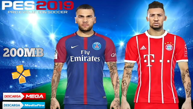 SAIU!! PES 2019 LITE 200MB PPSSPP COM GRÁFICOS HD FACES REALISTAS TIMES EUROPEU/A PPSSPP ANDROID