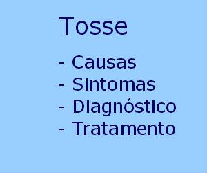Tosse causas sintomas tratamento crônica