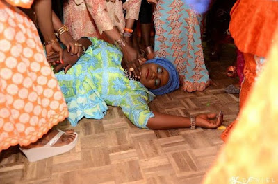 Adenike Kikelomo Ajoke on the floor