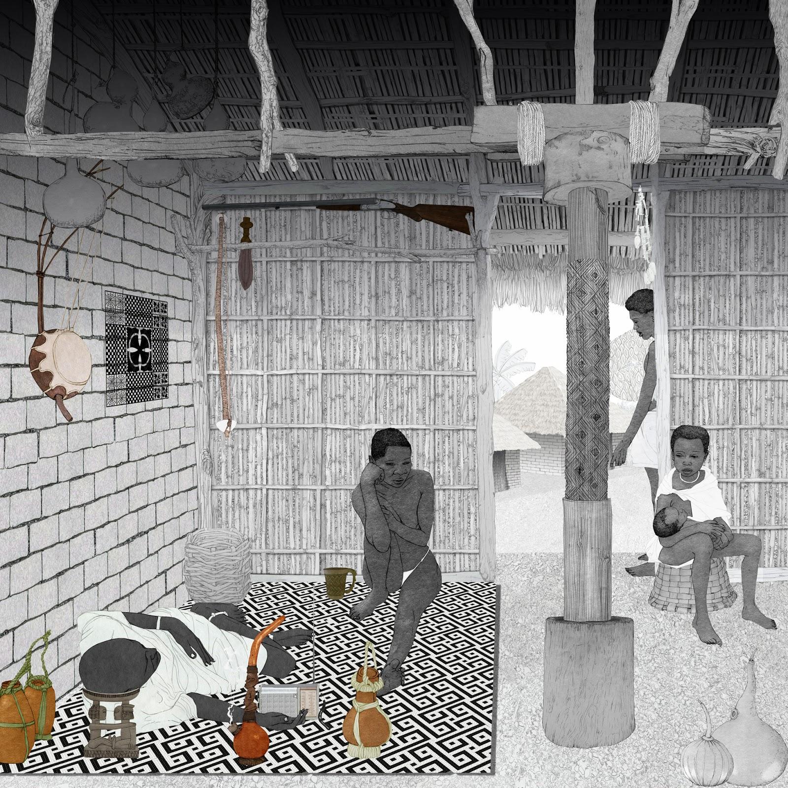 espacio domestico, Congo, lamina