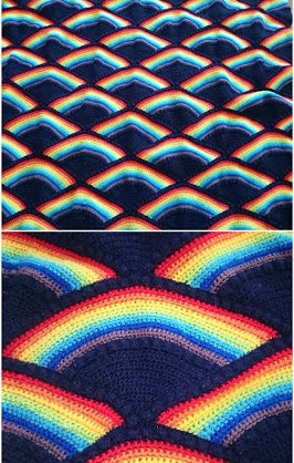 Crochet Rainbow For Quilt
