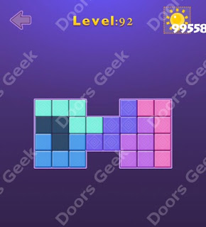 Cheats, Solutions, Walkthrough for Move Blocks Easy Level 92