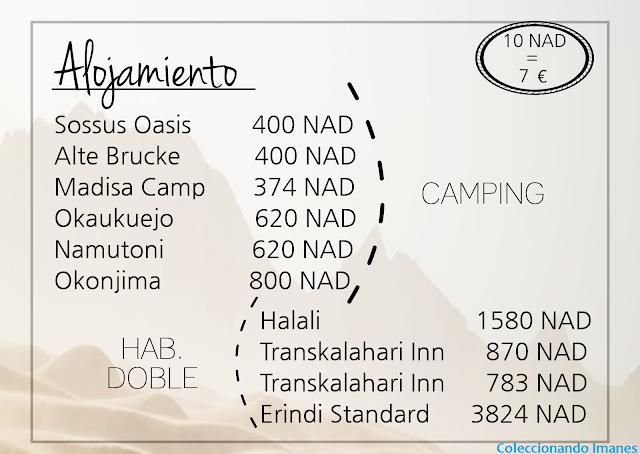 Presupuesto de viaje a Namibia por libre