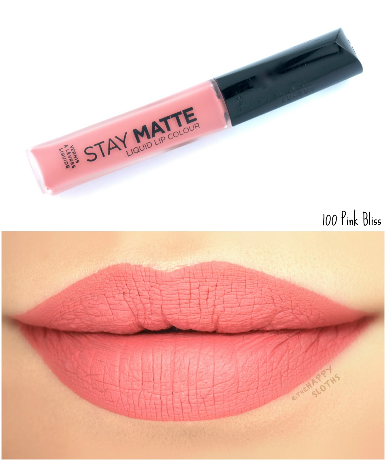 Rimmel London Stay Matte Liquid Lip Colour | 100 Pink Bliss: Review and Swatches