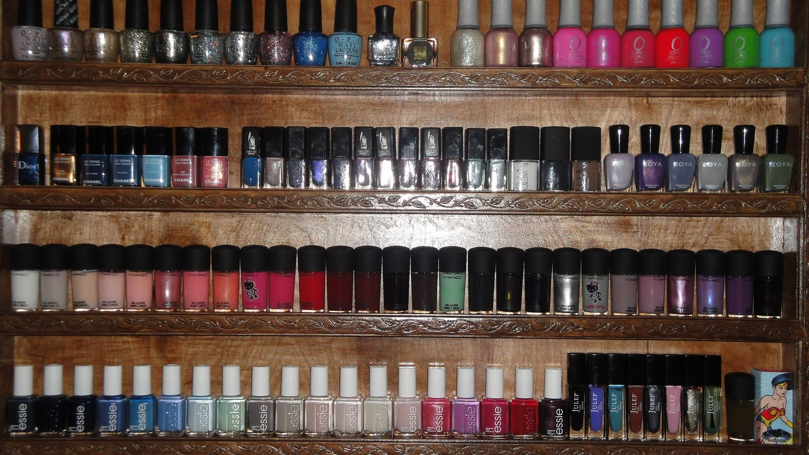 Jayded Dreaming Beauty Blog Homemade Nail Polish Rack