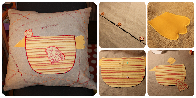 cushion cover, pillow cover, housse de coussin, applique