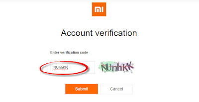 Verification Code - Mi Account - Xiomi Tips