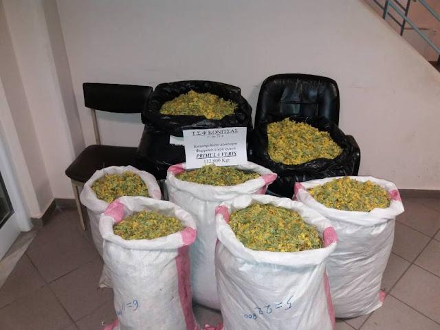 Γιάννενα: Συνελήφθησαν δύο αλλοδαποί με ποσότητα αρωματικού-φαρμακευτικού φυτού, βάρους 112 κιλών και 900 γραμμαρίων