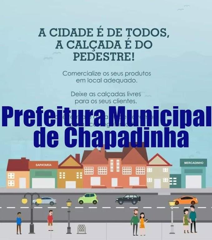 """""""A Cidade é de Todos, a Calçada é do Pedestre!""""."""