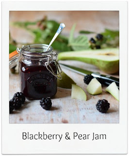 This Blackberry & Pear Jam uses nature's free bounty to make a tasty preserve for just a few pence.  Not only is homemade jam easy to make and can be used in lots of ways, this blackberry jam recipe uses 25% less sugar than most!