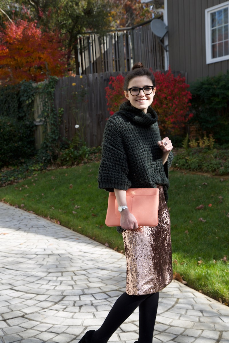 2017, winter, OOTD, J.Crew, Anthropologie, sequins, cocktail party,