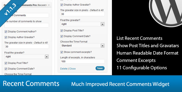 Free Download Better Recent Comments V1.1.4 Widget Pro For Wordpress