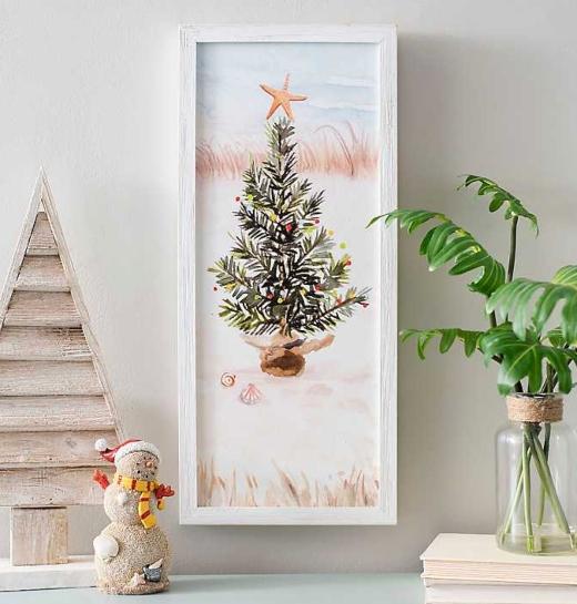 Coastal Christmas Tree Art