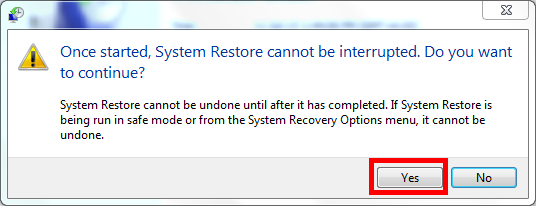 Computer's system restore to an earlier time in windows 7 ...