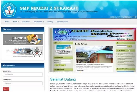 Web Sekolah PHP Codeigniter Gratis