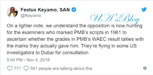 PDP flying US investigators to hunt examiners who marked Buhari's WAEC scripts, says Keyamo