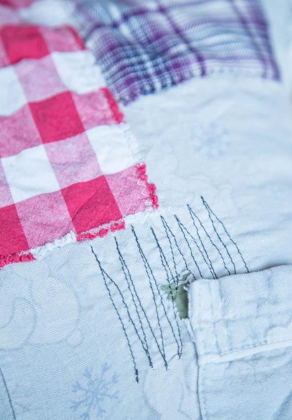 Ikuisen yöpaidan taskun korjaus