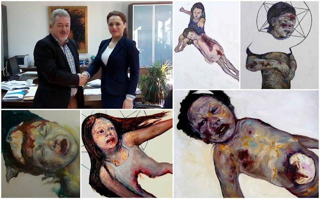 Ηγουμενίτσα: Συνάντηση Δημάρχου με την συντοπίτισσά μας ζωγράφο κα Χριστίνα Τζάνη