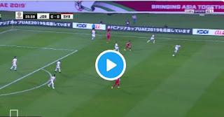 النشامى يحقق العلامة الكاملة بعد الفوز سوريا 2-0 فى كأس أمم آسيا 2019  Jordan vs Syria