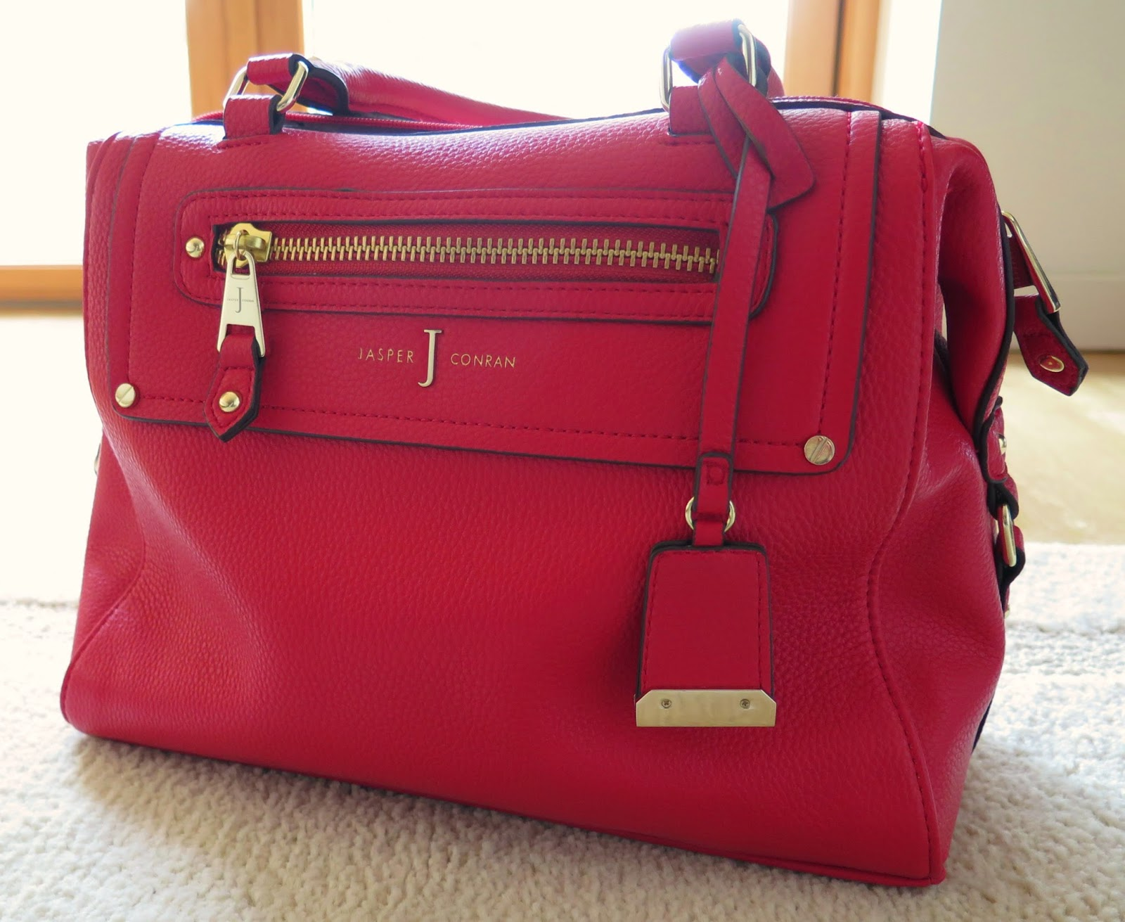 red handbag, jasper conran