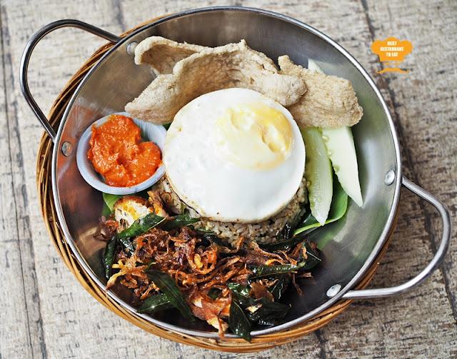 Nasi Goreng Kampung Muar With Ayam Goreng Berempah