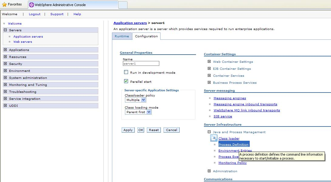 how to increase heap size in websphere