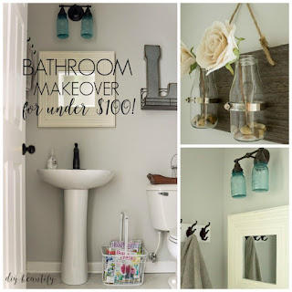 A tiny bathroom gets a budget makeover for a fabulous, modern new look | diy beautify