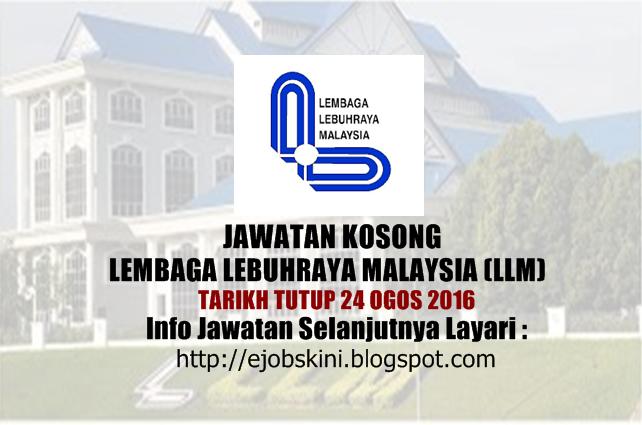 Jawatan Kosong Lembaga Lebuhraya Malaysia (LLM) Ogos 2016