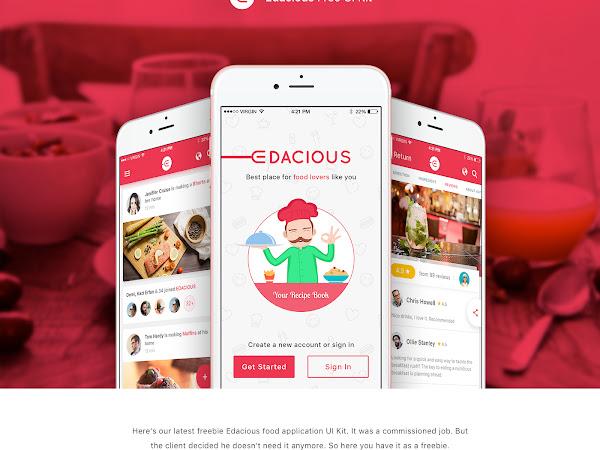 Download Edacious Food UI Kit Free