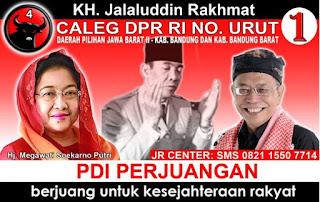 Menilik Profil Politik Jalaludin Rahmat, DPR Jawa Barat dari Partai PDIP