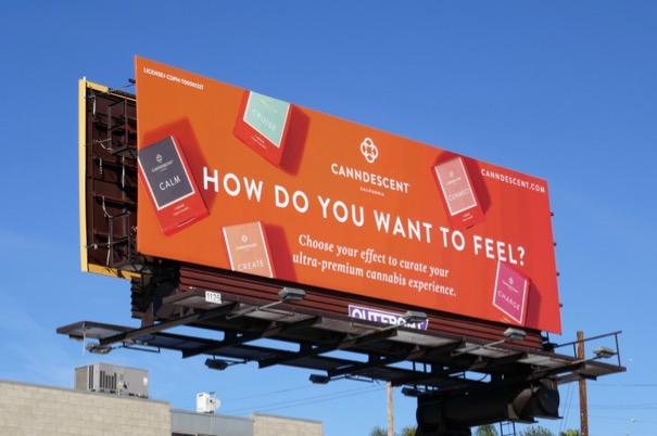 Canndescent cannabis billboard