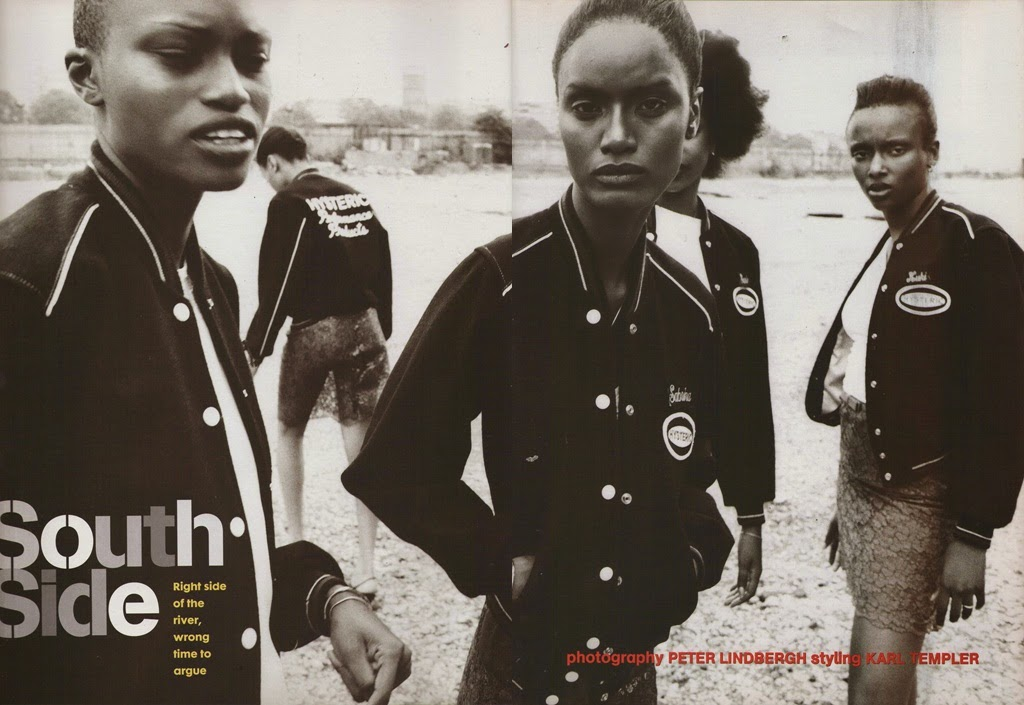 Lois, Margareth LaHoussaye-Duvigny and Adia Coulibaly by Peter Lindbergh for The Face (November 1996) | Ses Rêveries