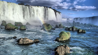 Amazing waterfall high quality overflow river images