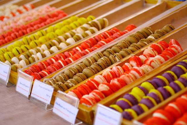 Foodies Festival, Syon Park - delicate but boldly coloured and flavoured macarons from Dimkin's Patisserie
