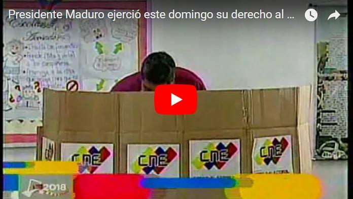 """Maduro """"Vota"""" y pone al pueblo a elegir entre """"Votos o balas"""""""