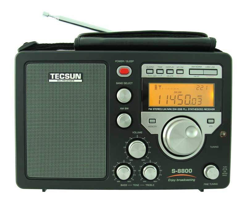 Новейший PLL DSP всеволновый радиоприемник Tecsun S-8800 обладающий высокими чувствительностью и избирательностью